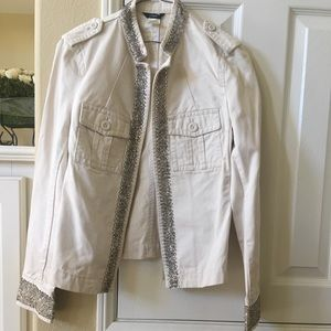 Crystal beaded military jacket J.Crew